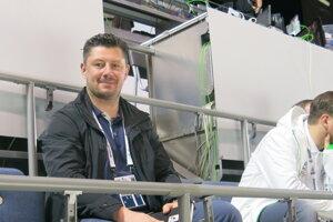 Miroslav Zálešák počas zápasu Slovensko - Nemecko na MS v hokeji.
