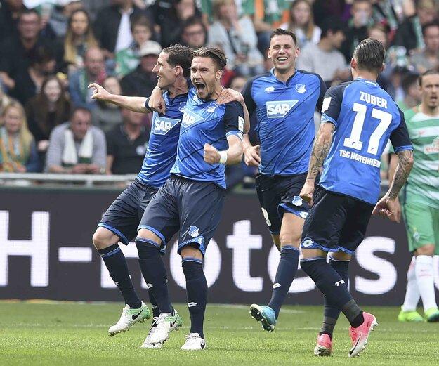 Hoffenheim zvíťazil na ihrisku Werderu Brémy 5:3.