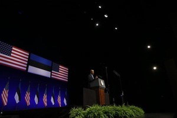 Estónsko nedávno navštívil americký prezident Obama.
