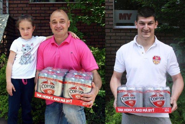 V 9. kole si kartón piva Corgoň rozdelili Marián Grman (prišiel s dcérkou Evičkou) a Matúš Vajzer.