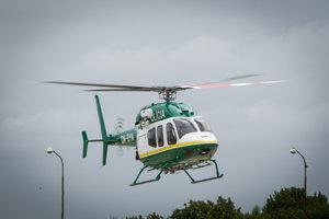 Policajný vrtuľník Bell 429.