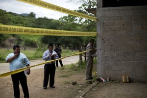 Policajné pásky po vražde vidno v Mexiku často.
