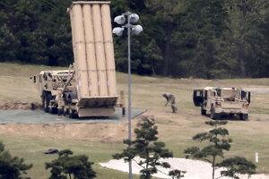 Inštalácia amerického protiraketového systému v Južnej Kórei.