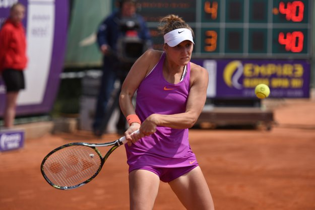 :Na snímke česká tenistka Markéta Vondroušová počas finálového zápasu.