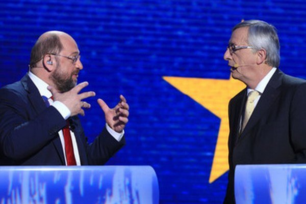 Schulz a Juncker.