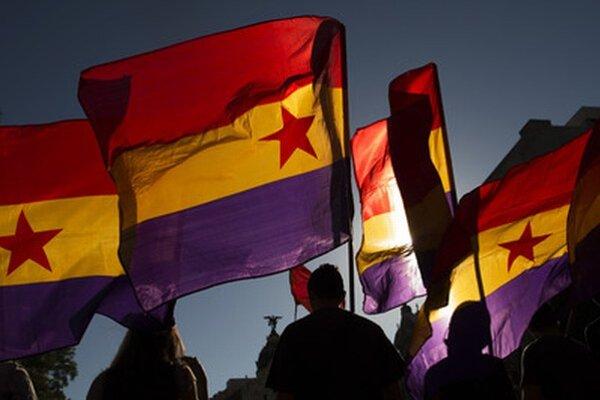 Demonštranti v Madride.