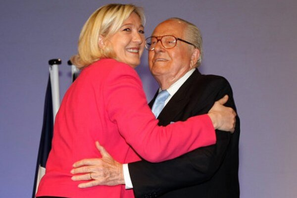 Jean-Marie Le Pen so svojou dcérou Marine.