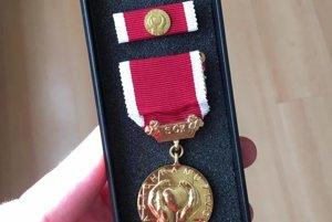 Medaila za záchranu života.