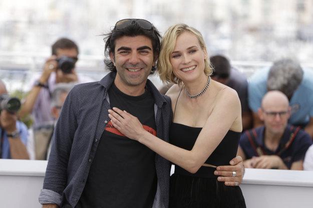 Režisér Fatih Akin a herečka Diane Kruger v Cannes.