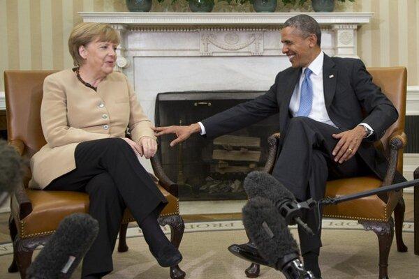 Merkelová a Obama. Dvaja spojenci za Ukrajinu.