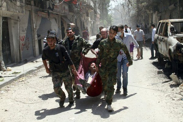 Zranený neďaleko Homsu.
