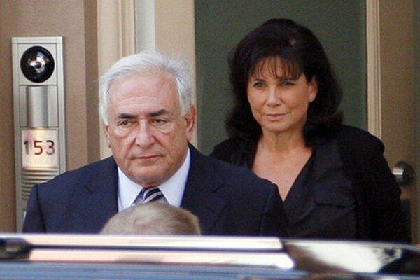 Dominique Strauss-Kahn s bývalou manželkou Anne Sinclair.