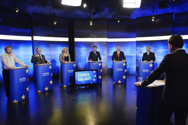 Posledná predvolebná debata lídrov maďarských strán.
