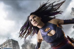 Olivia Munn ako Psylocke vo filme X-Men: Apokalypsa.