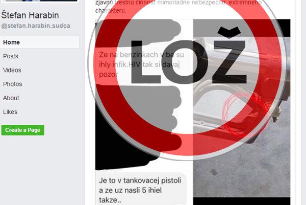 Štefan Harabin šíri hoax o nastražených ihlách