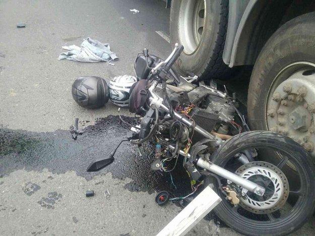 Následky tragickej nehody.