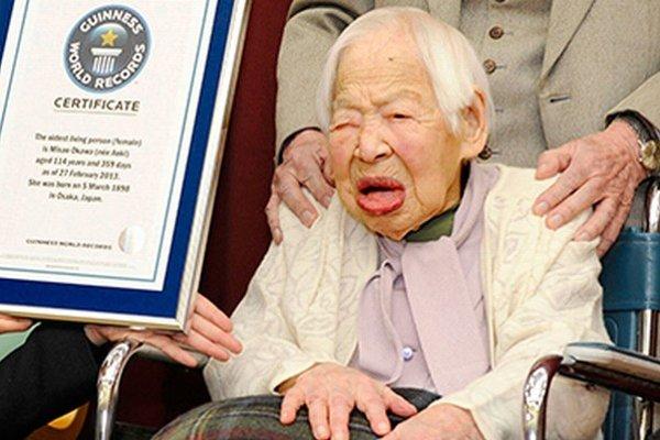 Doterajší rekord doposiaľ držala Japonka Misao Okawová. Tá sa zatiaľ dožila 115 rokov.
