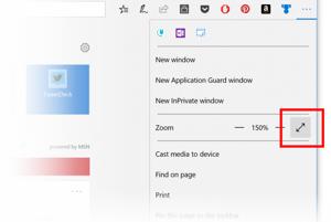Microsoft Edge doteraz nemal možnosť zväčšenia na celú obrazovku. Nová aktualizácia to zmení.