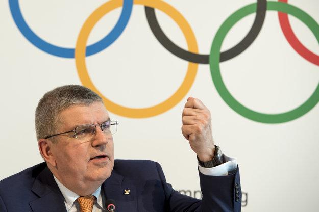 Šéf Medzinárodného olympijského výboru (MOV) Thomas Bach.