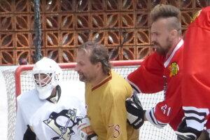 Skalická hokejbalová liga, semifinále Indiáni - Legendy