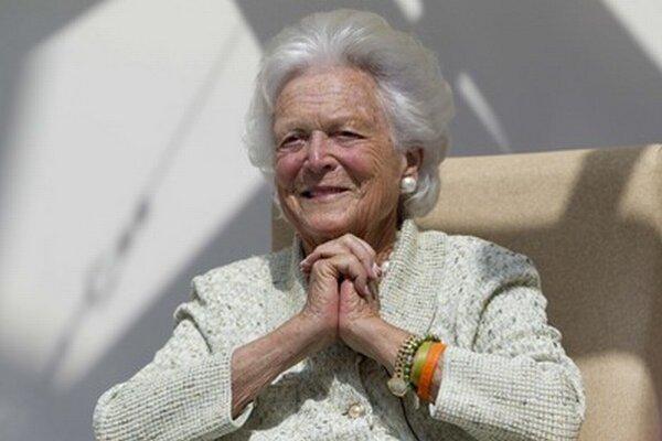 Barbara Bush na archívnej fotografii z augusta 2013.
