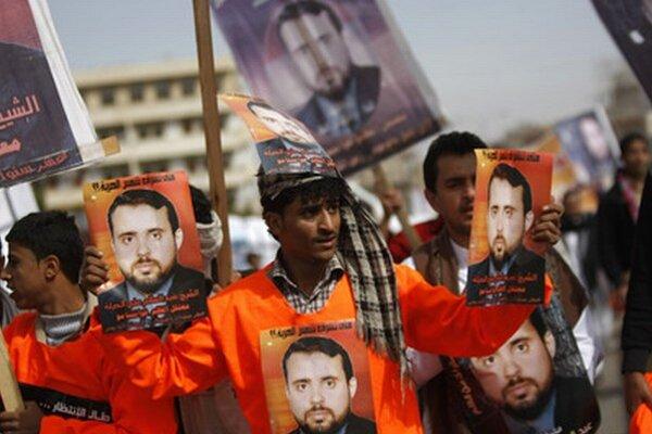 Protest v Jemene.