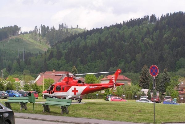 Vrtuľníky prevážali najmä pacientov s akútnym infarktom myokardu a závažnými popáleninami.