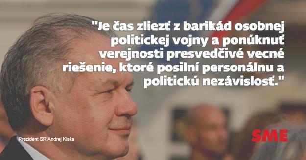 Andrej Kiska správa o stave SR slovenska
