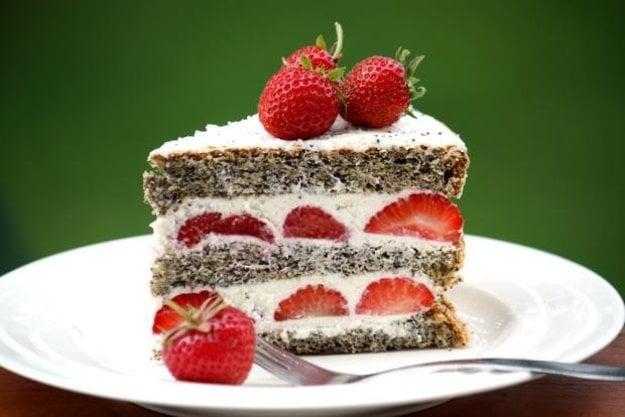 Jahodovo - maková torta