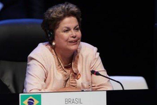 Brazílska prezidentka Dilma Rousseffová.