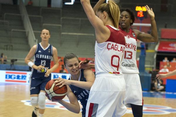 Slovenské basketbalistky nestačili na Turkyne.