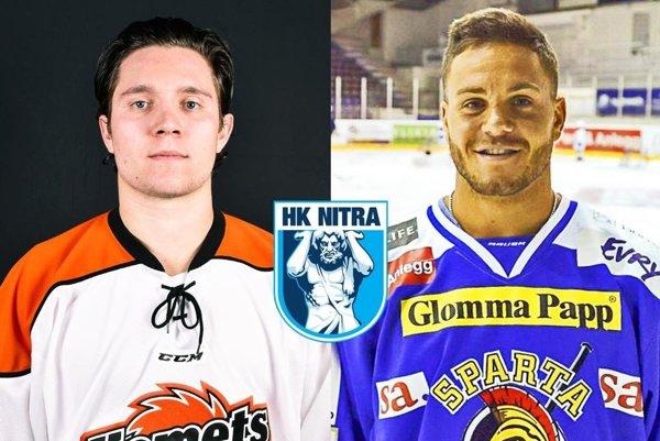 Zľava David Friedmann a Anthony Luciani, noví hráči HK Nitra.