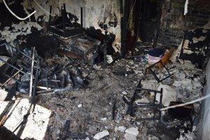 Oheň zničil skoro úplne všetko.