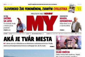 Titulná strana týždenníka MY Prešovské noviny č. 24/2017.