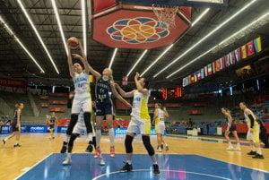 Slovenské basketbalistky zdolali silnú Ukrajinu.