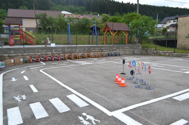 Pohľad na nové dopravné ihrisko.