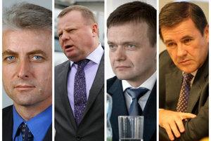 Zľava: Jozef Brhel, Milan Fiľo, Jaroslav Haščák a Juraj Široký.
