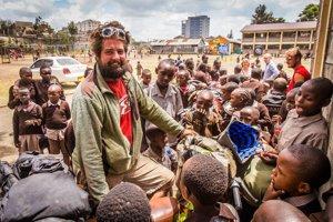 S deťmi v Keni.