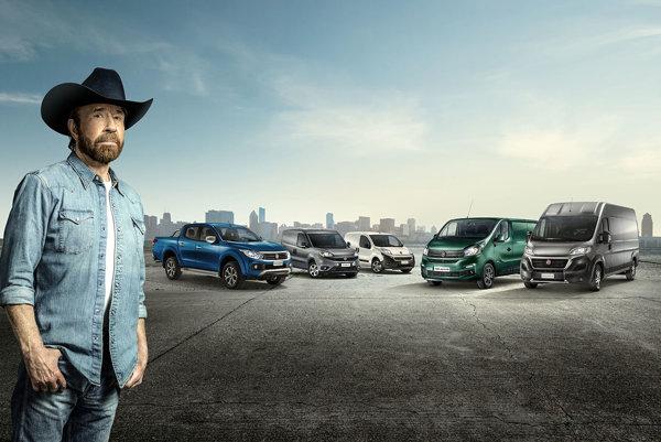 Chuck Norris a modelový rad úžitkových vozidiel Fiat.