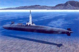 Ilustrácia odpálenia rakety Tomahawk z ponorky USS Ohio (SSGN 726). Ponorka nesie 154 takýchto striel.