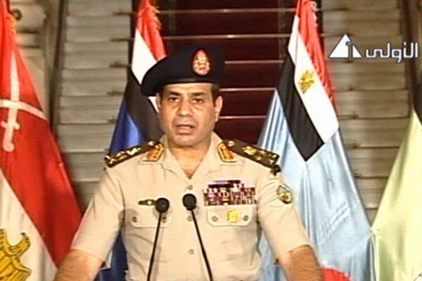 Veliteľ armády počas príhovoru.