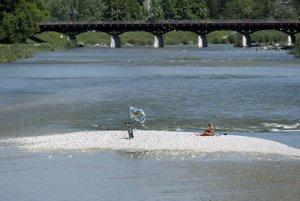 Rieka Isar v Mníchove