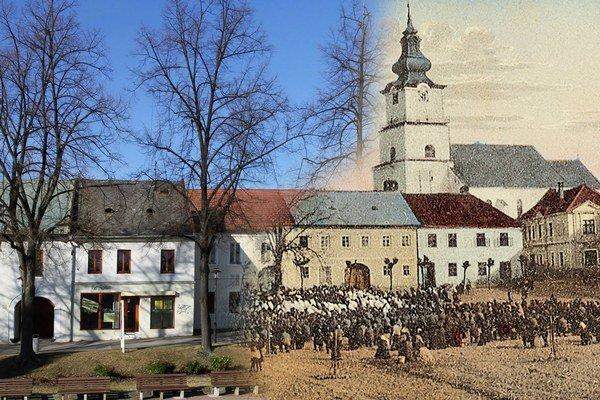 Fotografie spájajú dva zábery – starej a dnešnej Prievidze.