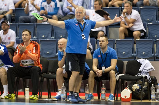 Tréner Slovákov Martin Lipták.