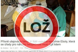 Epidémia eboly v Taliansku je hoax