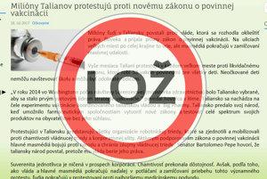 Antivakcinačný článok tisícnásobne nafúkol počet protestujúcich a následne obvinil médiá, že mlčia o miliónových protestoch.
