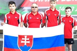 Reprezentačné družstvo kadetov - Filip Delinčák (vpravo).