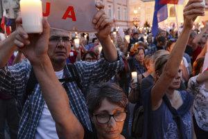 Júlové demonštrácie v Poľsku.