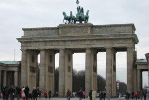 Jedna z dominánt Berlína, Brandenburská brána.
