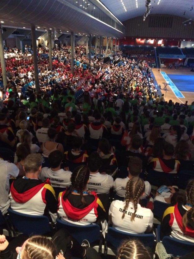Sála v Oslofjord Convention Center má kapacitu päťtisíc ľudí.